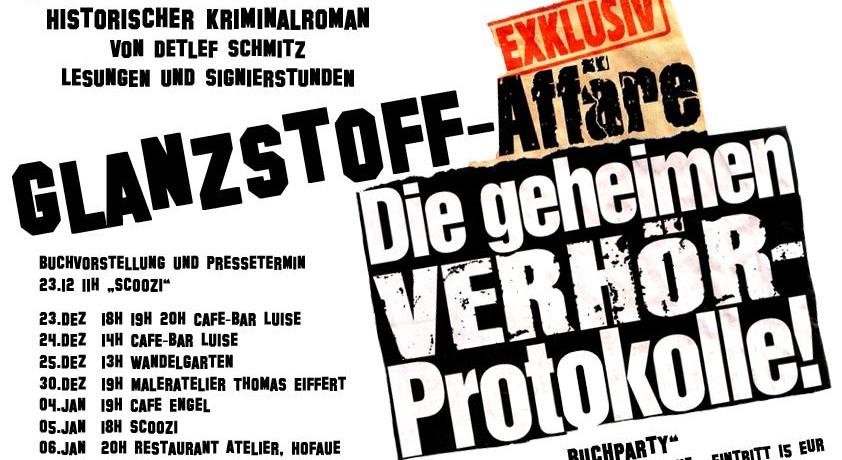"""Lesungen und Veranstaltungen """"Tod im Landwehrkanal"""""""